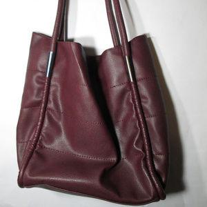 Neiman Marcus Burgundy Tote Bag/ Handbag